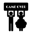 Funny Wedding Symbol - Game Over vector image