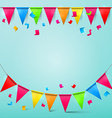 Bunting Confetti and Flags with Ribbons Colorful vector image vector image