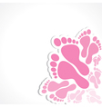 foot background vector image