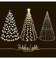 Glowing Christmas trees vector image