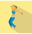 Nice dance flat symbol vector image