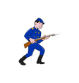 Union Army Soldier Bayonet Rifle Cartoon vector image