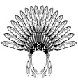 Headdress with plain feathers vector image