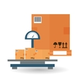 Delivery and box design vector image