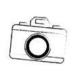 drawing photo camera picture flash lens icon vector image