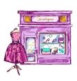 Fashion Shop Storefront Composition vector image
