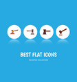 flat icon lawyer set of legal government building vector image
