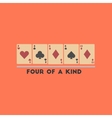 flat icon on stylish background poker four of a vector image