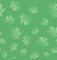 pattern with branches on green background vector image