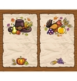 thanksgiving cards vector image