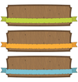 wooden banners vector image vector image