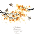 Autumn branch and birds vector image