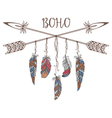 Boho Style for T-shirt and Decoration vector image