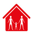 family together inside house vector image