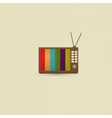 Retro TV background vector image vector image