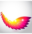 Colorful wing of leaves vector image vector image