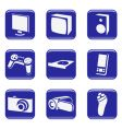 electronics web icons vector image