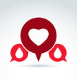 a red heart symbol with blood drops medi vector image