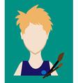 Profession people painter Face male uniform vector image