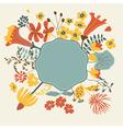 Floral cartoon card vector image