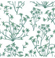 floral leaves seamless pattern wild nature vector image