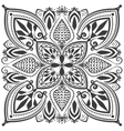 Monochrome oriental ornament vector image