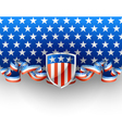 Patriotic background with shield vector image