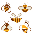 set of signs bee vector image