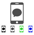 smartphone chat message flat icon vector image