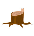 stump with roots cartoon vector image