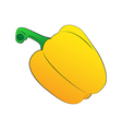 Yellow Sweet Pepper vector image