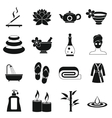 Spa treatments icons set simple style vector image