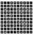 100 education icons set grunge style vector image