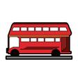 double decker bus london icon image vector image