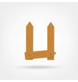 Wooden Boards Letter U vector image