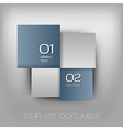 business four squares dark blue with text vector image vector image