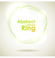 Abstract green smoke ring design element vector image