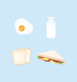 Breakfast Design Set vector image