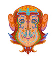 Ethnic ornamented monkey vector image