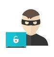 Hacker activity in flat design vector image