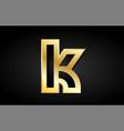 k gold golden letter logo icon design vector image