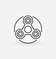 Simple fidget spinner icon vector image