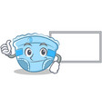 thumbs up with board baby diaper character cartoon vector image