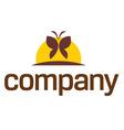 wellness butterfly logo vector image