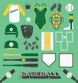 Baseball Objects and Icons vector image vector image