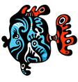tattoo fish vector image