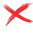 Red cross vector image