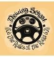 driving school logo design template car vector image