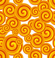 Golden Spiral seamless pattern Curl pattern vector image