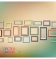 Set of colorful wooden frames vector image